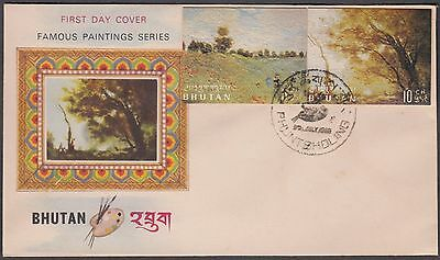 Bhutan Famous Paintings 1968 2 Values Cover