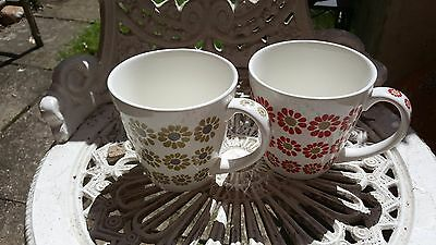 Vintage  Laura Ashley Mugs red flower/ green flower
