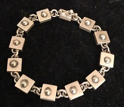 Taxco TJ-37 Made In Mexico 925 Sterling Silver Bracelet 26.1Gr