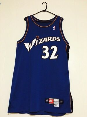 1999-2000 Washington Wizards Richard Rip Hamilton Rookie Game Worn Jersey LOA