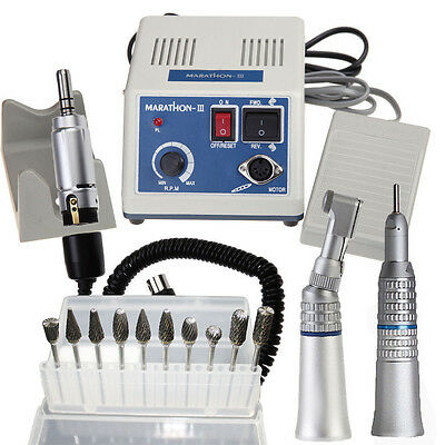 Dental Marathon Mikromotor 35K rpm Polisher + Handstück  + 10st 2.35mm Burs