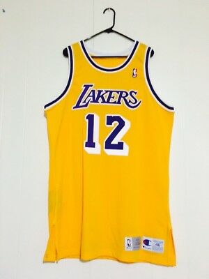 Los Angeles Lakers Vlade Divac 1993-94 Game Worn Jersey Grey Flannel LOA Rare