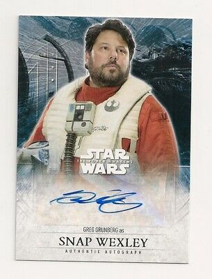 2016 Topps Star Wars The Force Awakens Two Greg Grunberg Auto As Snap Wexley