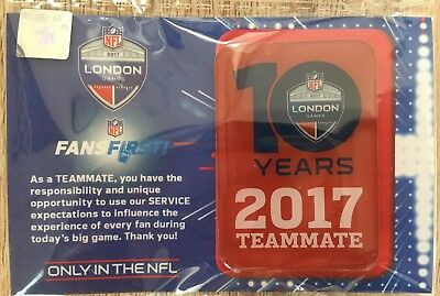 2017 NFL Fan First Ltd ED Pin Badge London 10 Years