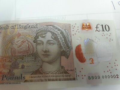 new ten pound note 000002 low number
