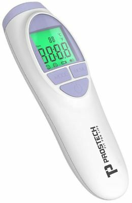Non-contact forehead thermometer. Silent no contact reading with backlight.