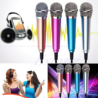 Mini Stereo Microphone For IOS Android iPhone PC Karaoke Sing Speech Chat Pro