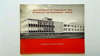 Department of Research & Technical Development, Corby. 1958 Stewarts & Lloyds
