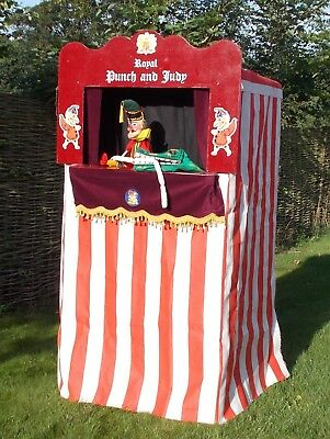 Professional Punch and Judy Puppets and Booth..