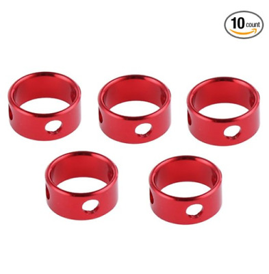 10 Red Aluminum Tent Awning Cord Rope Fastener Guy Line Runners Tensioners Small