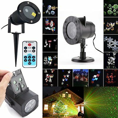 Christmas Outdoor /in Landscape LED Lamp R&G Laser Fairy Xmas Light Projector
