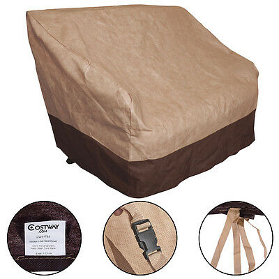 Outdoor Patio Waterproof Loveseat Wicker Chairs Seat Cover Protection Furniture
