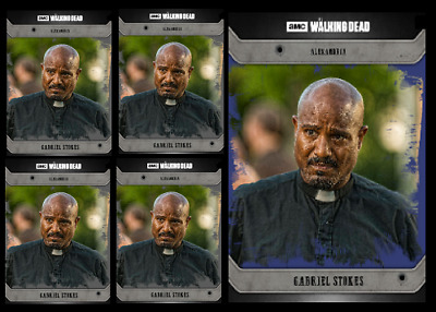 Topps The Walking Dead Card Trader COMMUNITY GABRIEL Black & Blue Digital