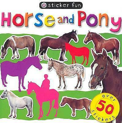 NEW  Priddy  HORSE and PONY STICKER FUN with 50 stickers