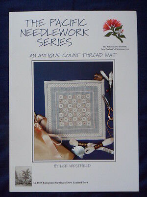 Pacific needlework series antique count thread mat embroidery chart needlework