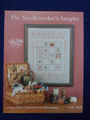 The needleworkers sampler cross stitch  embroidery charts DMC thread