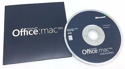 Microsoft Office Home and Business 2011 MAC ORIGINAL DVD + Lizenz PKC / OEM