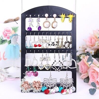 Fashion Cute Black Jewelry Holders Organizers Packaging Display Displays Earring