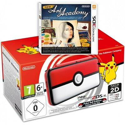 New Nintendo 2Ds Xl Pokeball Edition + Videojuego Fisico New Art Academy 2Dsxl