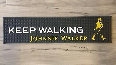 Johnnie Walker pvc rubber bar mat runner barmat coaster