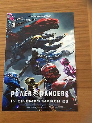Promotional Movie Flyer For Power Rangers Reusable Plastic Flyer Place On Glass