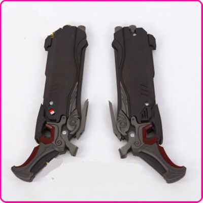 2PC OW Reaper Shotguns Cosplay Prop PVC Gun Overwatch Collections Comic Con