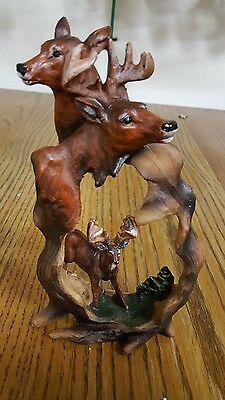 deer figurine polyresin statue collectible 7 inches new in box gift