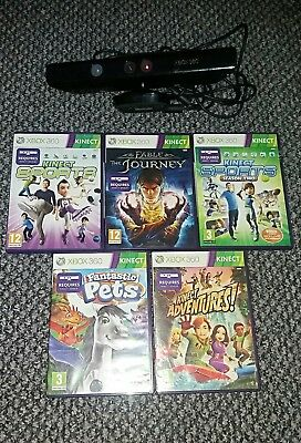 Xbox 360 kinect bar and 5 games