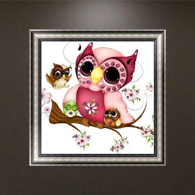 DIY 5D Diamond Embroidery Painting Owl Animal Cross Stitch Craft Home Gift Decor