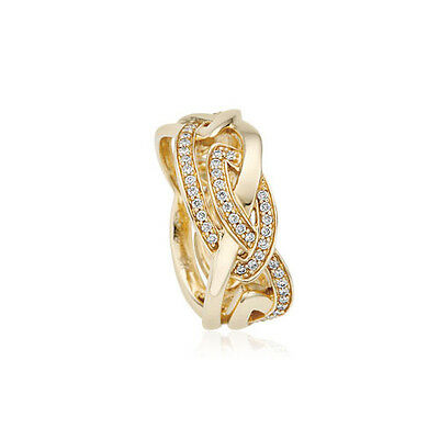 BRAND NEW Official Clogau Yellow & Rose Gold Eternal Love Ring £600 off! SIZE J