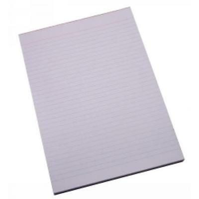 Office Pad WPR055  White Bank Writing Pad A4 NotePad 70gsm Ruled 100 Leaf   Each