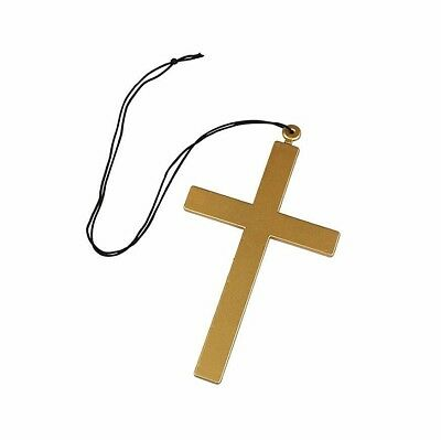 PRIEST NUN LARGE CROSS Fancy Dress Accessory Vicar Clergy Monk Fancy Dress 23cm
