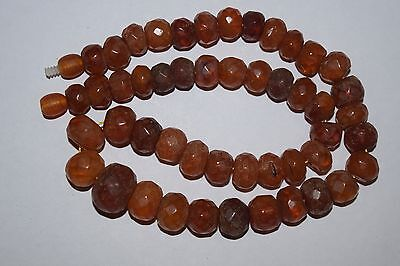 alte bernsteinkette bernstein amber faceted real amber necklace 29  gr