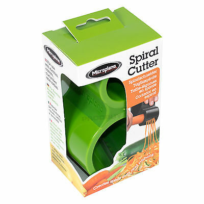 Microplane Spiraliser Green Hand Held Vegetable Spiral Cutter Ribbon Slicer
