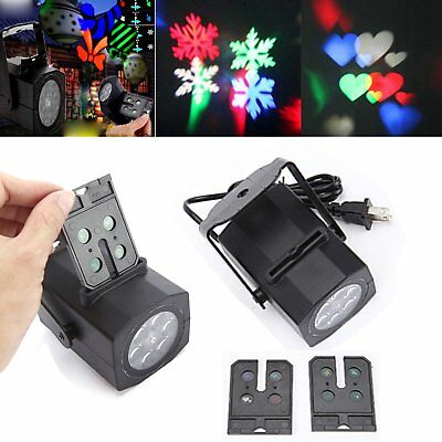 2 Pattern Fairy Projector LED Light Christmas Party Landscape Lamp Decorate Xmas