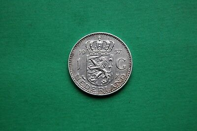 1957  One (1) Gulden Netherlands Silver Coin - Queen Juliana
