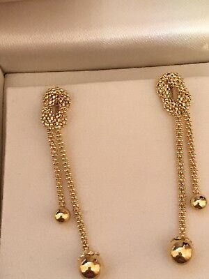 3 PAIRS of 9CT GOLD DROP EARRINGS