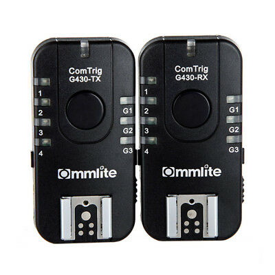 5X(Commlite G430C Wireless & Grouping Flash Trigger 7CH TTL for S3O8