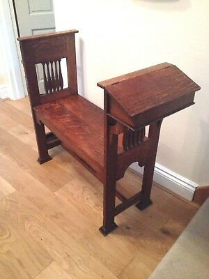 Arts & Crafts Shapland and Petter Oak Hall Seat
