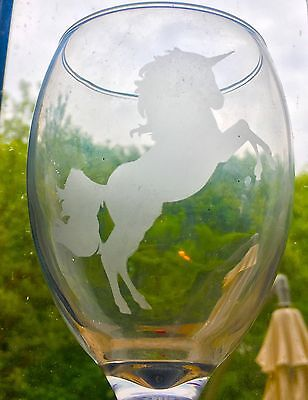X5 Unicorn Stencil Glass Craft Etched Vinyl Sticker Silhouette