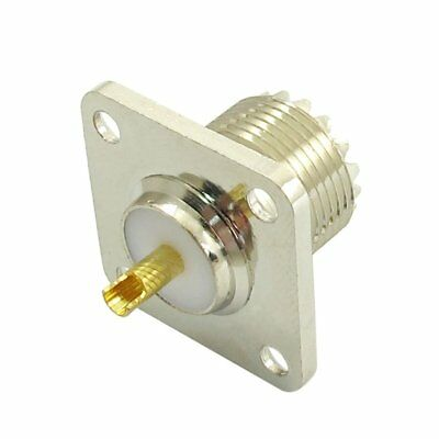 SO-239 Female Jack Square Shape Solder Cup Coax Connector For Radio X4X5
