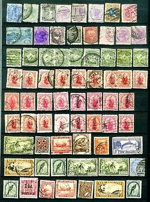 NZ Page of old stamps used as scan