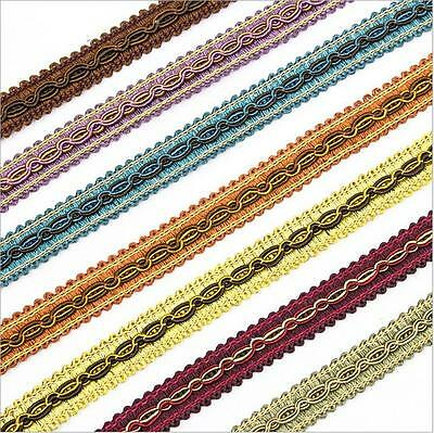 Gimp Braid Lace Edge Trimming Floral Ribbon Sewing Upholstery Furnishing Craft