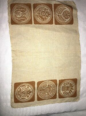 Vintage Textile Linen Hand Dyed Place Mat or Fabric Piece