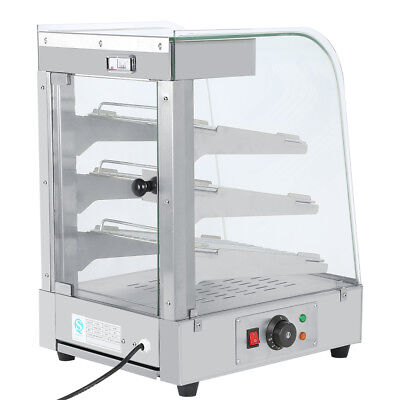 Commercial Pie Food Warmer Stainless Steel 1300W Hot Display Showcase Cabinet AU