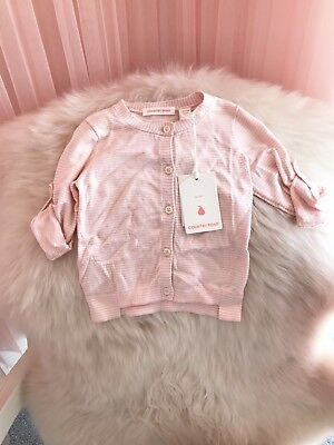 Country Road Baby Girl BNWT Pink And White Cardigan