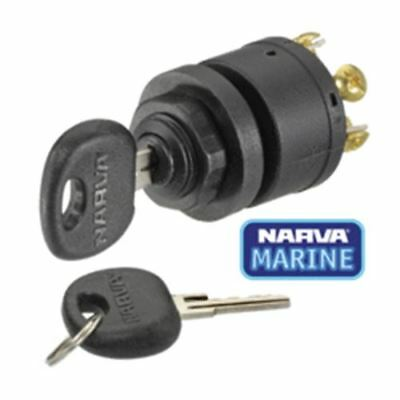 64008 Narva 3 Position Ignition Switch (Marine) with Push for Choke Function