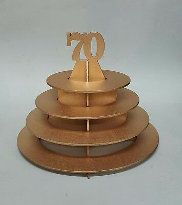 Ferrero Rocher Oval chocolate tower stand - Lasercut 3mm MDF with gold finish
