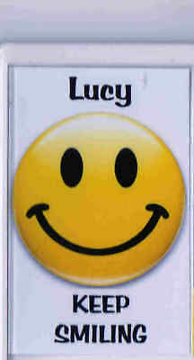 Fridge Magnet Smiley Face Personalised Keep Smiling New