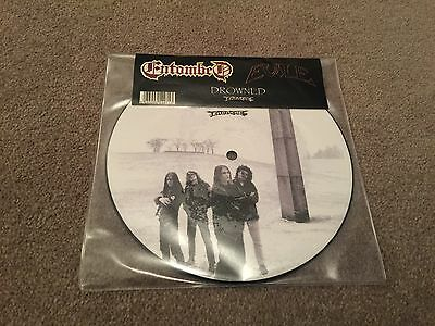 """Entombed / Evile """"Drowned"""" RARE 7"""" Vinyl Picture Disc"""